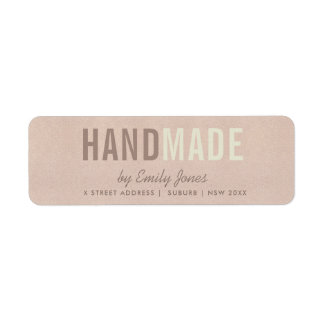 ELEGANT MINIMAL ROSE GOLD SHIMMER HANDMADE ADDRESS