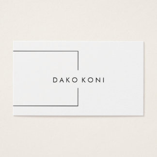 Elegant minimalist black and white business card