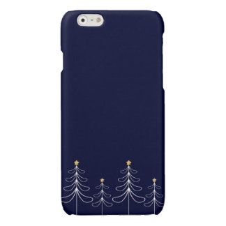 Elegant minimalist Christmas tree design blue