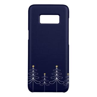 Elegant minimalist Christmas tree design blue Case-Mate Samsung Galaxy S8 Case