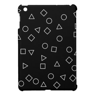 Elegant minimalist geometric pattern black white iPad mini case
