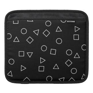 Elegant minimalist geometric pattern black white iPad sleeve