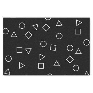 Elegant minimalist geometric pattern black white tissue paper