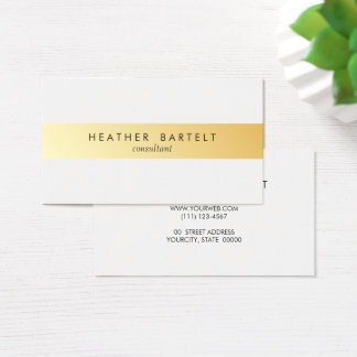 Elegant Minimalist Gold Stripe Business Card