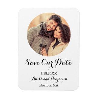 Elegant Minimalist Photo Save the Date Rectangular Photo Magnet