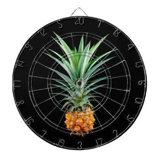 elegant minimalist pineapple | Black background Dartboard