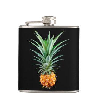 elegant minimalist pineapple | black background flask