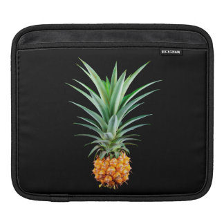 elegant minimalist pineapple | black background iPad sleeve