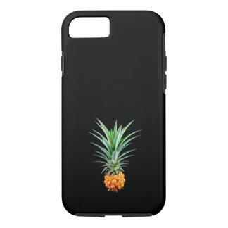 elegant minimalist pineapple | black background iPhone 7 case