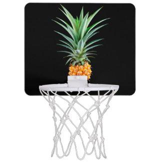 elegant minimalist pineapple | black background mini basketball hoop