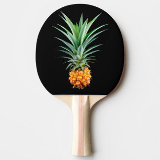elegant minimalist pineapple | black background ping pong paddle