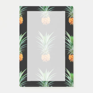 elegant minimalist pineapple | black background post-it notes