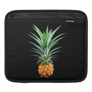 elegant minimalist pineapple | black background sleeve for iPads