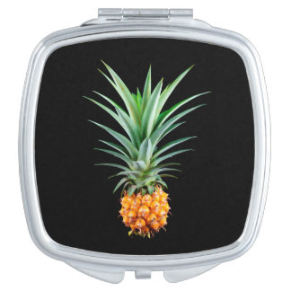 elegant minimalist pineapple | black background travel mirrors
