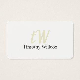 Elegant Minimalist Target Round Corners Business Card