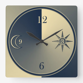 Elegant minimalistic night and day clock
