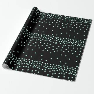 elegant mint and black dots