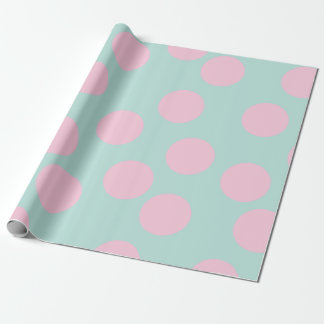 elegant mint and pink dots wrapping paper