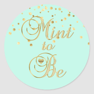 Elegant MINT TO BE Gold Wedding Envelope Seals
