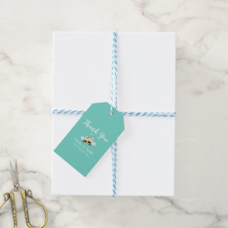 Elegant Mint To Be Honey Bee Wedding Thank You Gift Tags