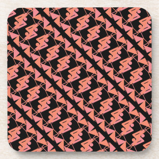 Elegant Mirrored Geometric & Abstract Pattern Coaster
