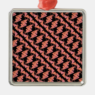 Elegant Mirrored Geometric & Abstract Pattern Metal Ornament