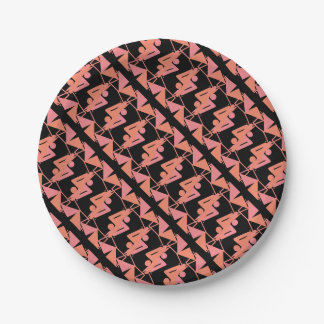 Elegant Mirrored Geometric & Abstract Pattern Paper Plate