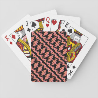 Elegant Mirrored Geometric & Abstract Pattern Playing Cards