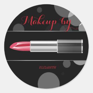 Elegant Moder Girly,Makeup artist,Red Lipstick Classic Round Sticker