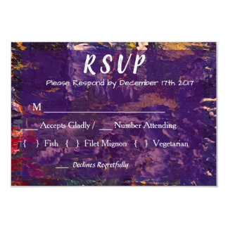 Elegant Modern Abstract Wedding RSVP Card