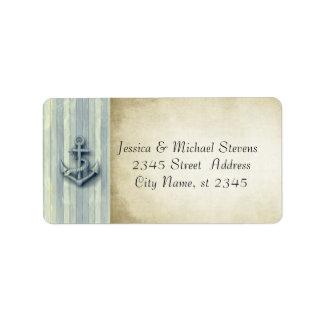 Elegant modern anchor nautical vintage