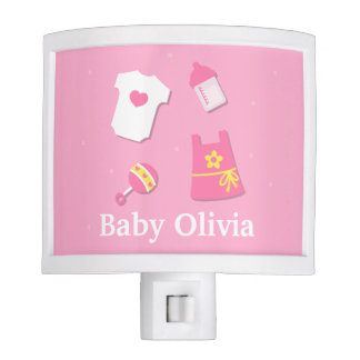 Elegant Modern Baby Girl Nursery Room Decorations Nite Lite