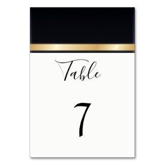 Elegant modern black  white and gold wedding card