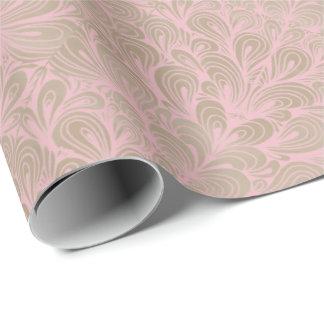 Elegant Modern Blush Pink Antique Designer Wrapping Paper