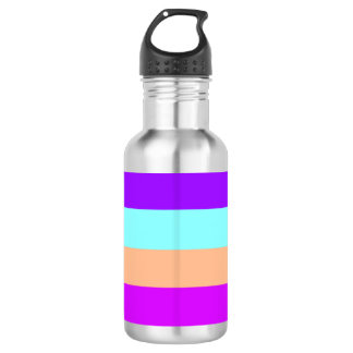 Elegant Modern Chic Colorful Stripes Bottles