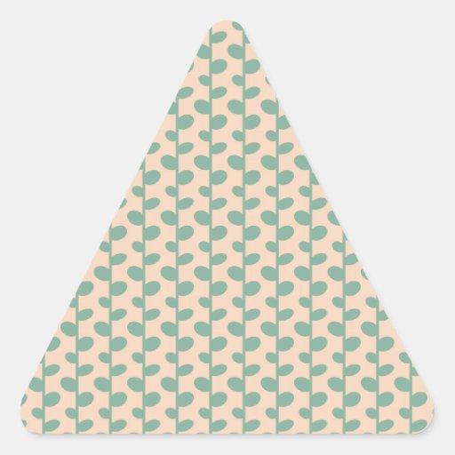 Elegant Modern Chic Leaf Pattern Triangle Sticker