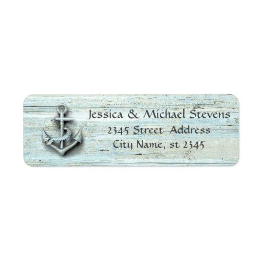 Elegant modern chic wedding nautical anchor wood