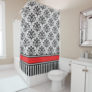 Elegant Modern Deco Damask Black and White