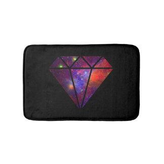 elegant modern diamond nebula colorful pink black bath mat