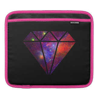 elegant modern diamond nebula colorful pink black iPad sleeves