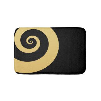 elegant modern faux gold geometric spiral bath mat