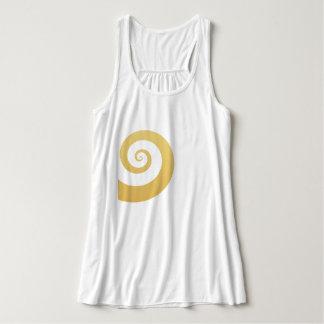 elegant modern faux gold geometric spiral tank top