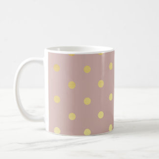 elegant modern faux gold polka dots pattern coffee mug
