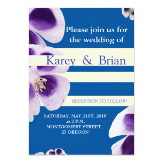Elegant Modern Floral Photo, Wedding Invitation