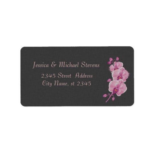 Elegant modern gentle wedding linen chic orchid label