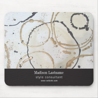 Elegant Modern Gold and Black Abstract Mouse Pad