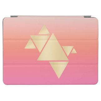 Elegant Modern Gold Geometric Pink Orange Gradient iPad Air Cover