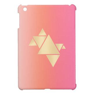 Elegant Modern Gold Geometric Pink Orange Gradient iPad Mini Cover