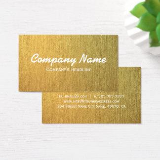 Elegant modern Golden Template Business Card