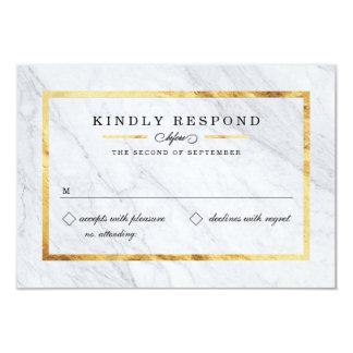 Elegant Modern Marble & Gold RSVP Cards